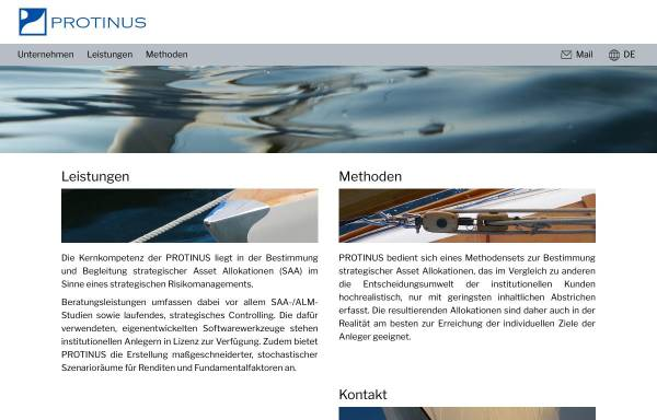 Vorschau von www.protinus.de, Protinus Beratungsgesellschaft GmbH & Co. KG