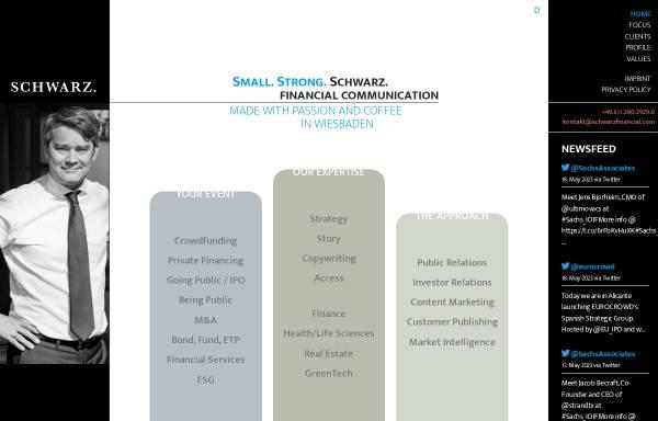 Vorschau von www.schwarzfinancial.com, Schwarz Financial Communication