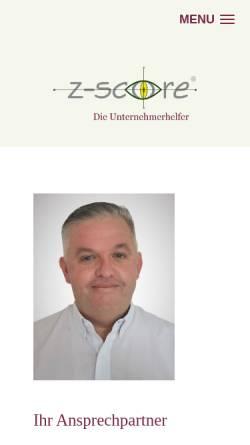 Vorschau der mobilen Webseite www.z-score.de, Z-Score Deutschland GmbH