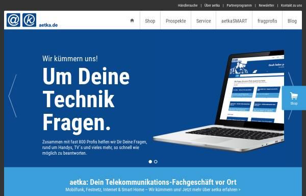 Vorschau von aetka.de, Aetka Communication Center AG