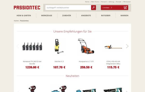 Vorschau von www.passiontec.de, Passiontec GmbH