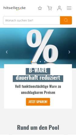 Vorschau der mobilen Webseite www.hitseller.de, Hitseller GmbH