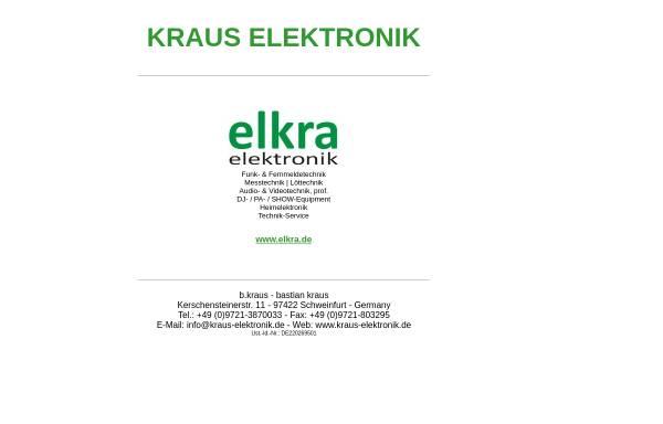 Vorschau von www.kraus-elektronik.de, Kraus Elektronik
