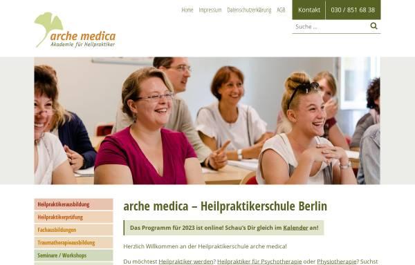 Vorschau von www.archemedica.de, Arche medica, Akademie für Heilpraktiker GbR
