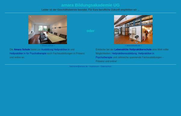 Vorschau von www.amara.de, Amara Bildungsakademie