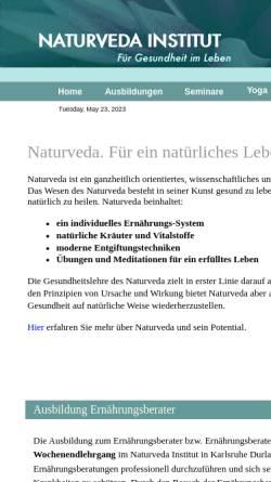 Vorschau der mobilen Webseite www.naturveda.de, Deutsches Naturveda-Institut