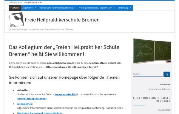 Vorschau von www.fhs-bremen.de, Freie Heilpraktiker Schule