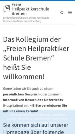 Vorschau der mobilen Webseite www.fhs-bremen.de, Freie Heilpraktiker Schule