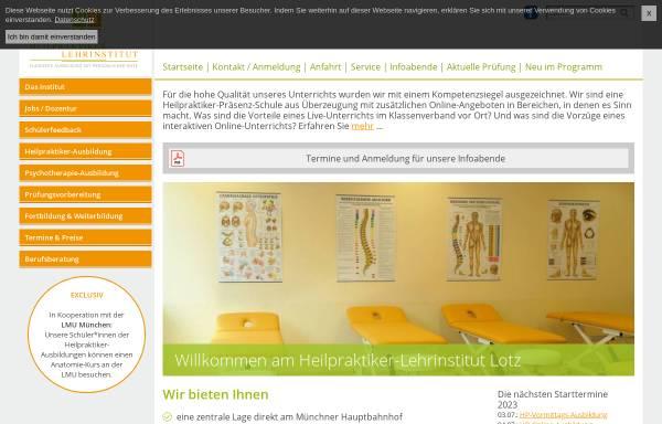 Vorschau von www.hpl-lotz.de, Heilpraktiker-Lehrinstitut Lotz