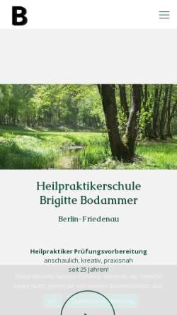 Vorschau der mobilen Webseite www.brigitte-bodammer.de, Heilpraktikerschule Brigitte Bodammer