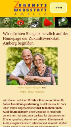 Vorschau der mobilen Webseite www.zukunftswerkstatt-amberg.de, Zukunftswerkstatt - Amberg