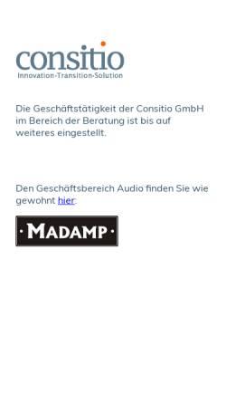 Vorschau der mobilen Webseite www.consitio.de, Consitio GmbH