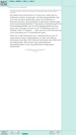 Vorschau der mobilen Webseite www.tcc-infokom.de, TCC InfoKom - Dipl.-Volkswirt Lothar Bittner