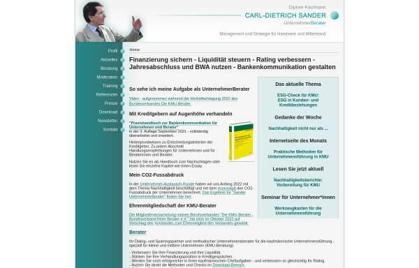 Vorschau von www.cd-sander.de, Carl-Dietrich Sander · UnternehmerBerater