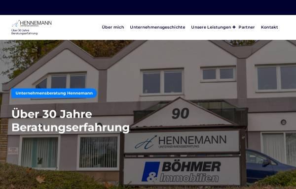 Vorschau von www.unternehmensberatung-hennemann.de, Dr. Andreas Hennemann - Unternehmensberatung