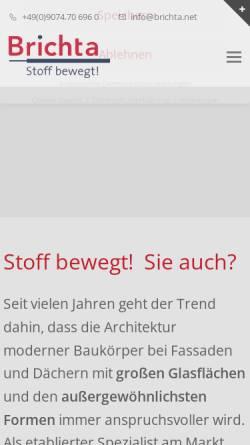 Vorschau der mobilen Webseite www.brichta.net, Brichta GmbH