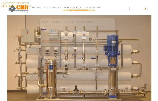 Vorschau von www.cillit-aqua.com, Cillit Cee Watertechnology GmbH