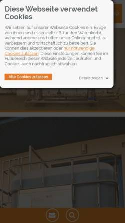 Vorschau der mobilen Webseite www.cillit-aqua.com, Cillit Cee Watertechnology GmbH