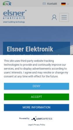 Vorschau der mobilen Webseite www.elsner-elektronik.de, Elsner Elektronik GmbH