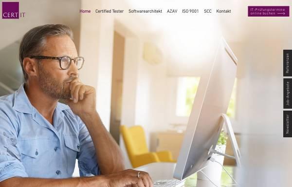 Vorschau von www.cert-it.com, Cert-IT GmbH