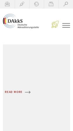 Vorschau der mobilen Webseite www.tga-gmbh.de, Trägergemeinschaft für Akkreditierung GmbH (TGA)