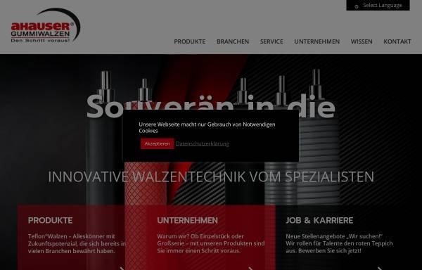 Vorschau von www.ahauser.com, Ahauser Gummiwalzen - Lammers GmbH & Co. KG