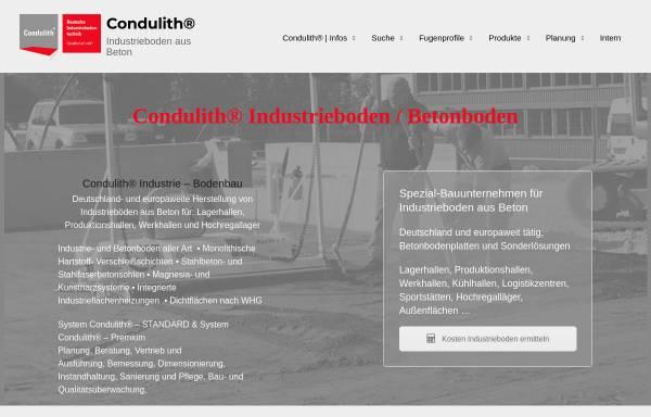 Vorschau von condulith-industrieboden.de, Condulith- Deutsche Industriebodentechnik GmbH