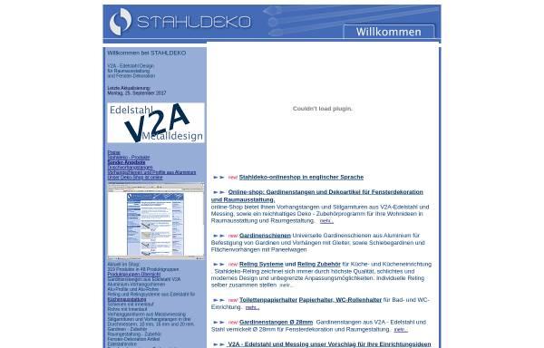 Vorschau von www.stahldeko.de, A.Veselov Stahldeko - Metalldesign