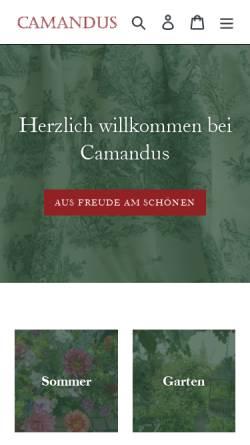 Vorschau der mobilen Webseite www.camandus.de, Camandus - B & W Versandhandel GmbH & Co. KG