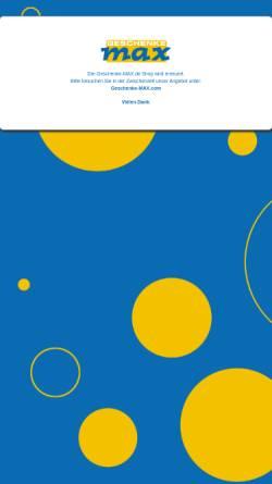 Vorschau der mobilen Webseite www.geschenke-max.de, Geschenke MAX , Inh. Markus Neu