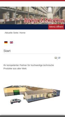 Vorschau der mobilen Webseite www.berger-schroeter.de, Berger & Schröter GmbH