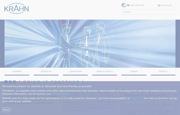 Vorschau von www.krahn.de, Krahn Chemie GmbH