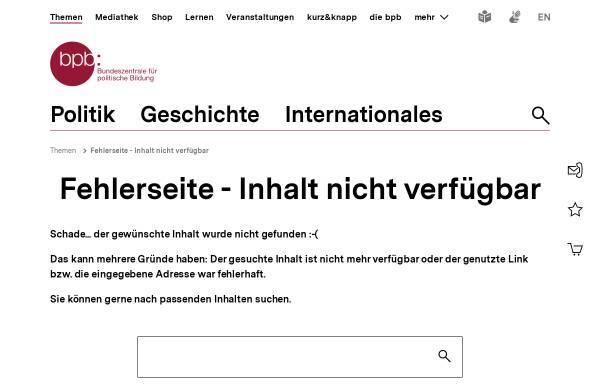 Vorschau von www.bpb.de, Bundeszentrale für Politische Bildung