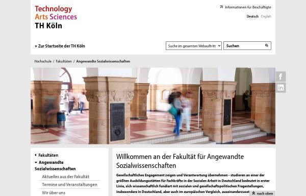 Vorschau von www.f01.fh-koeln.de, Fachhochschule Köln - Forschungsschwerpunkt Wirkung virtueller Welten
