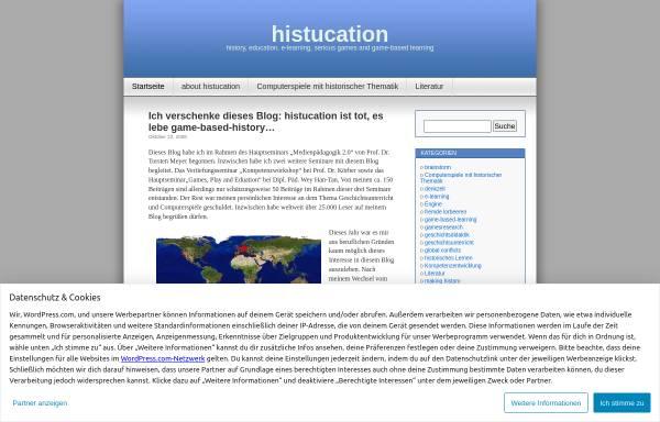 Vorschau von histucation.wordpress.com, Histucation