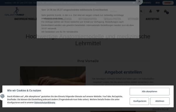 Galaxymed - Anatomie-Modelle: Produkte und Dienstleistungen, Medizin ...