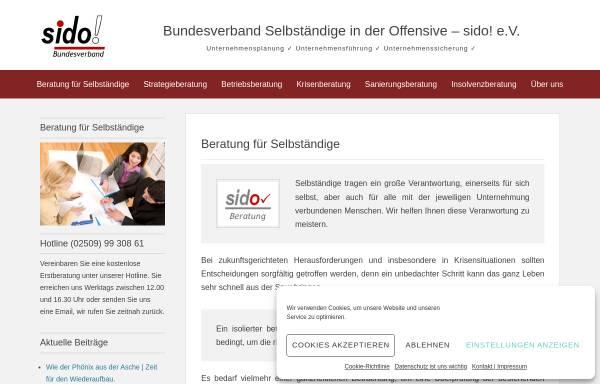 Vorschau von www.sido.org, Bundesverband Selbständige in der Offensive e.V.