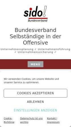 Vorschau der mobilen Webseite www.sido.org, Bundesverband Selbständige in der Offensive e.V.
