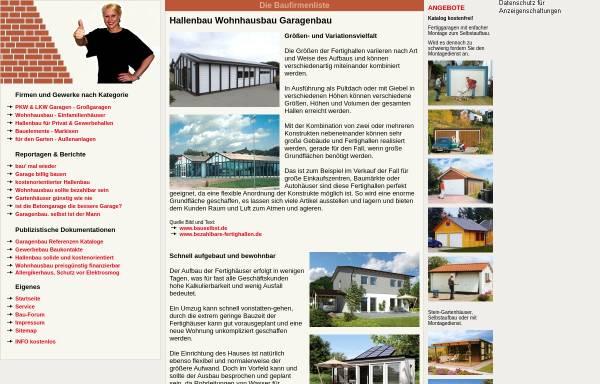 Vorschau von www.baufirmenliste.de, baufirmenliste.de