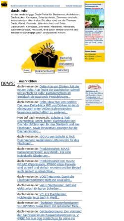 Vorschau der mobilen Webseite dach-info.de, Dach-info