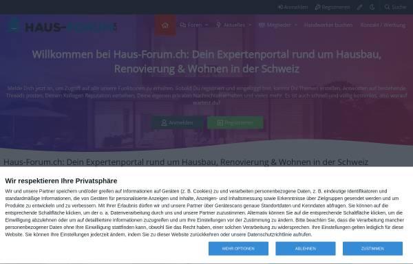 Vorschau von www.haus-forum.ch, Haus-Forum.ch