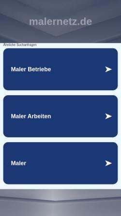 Vorschau der mobilen Webseite www.malernetz.de, Malernetz