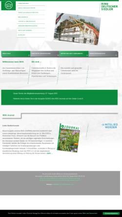 Vorschau der mobilen Webseite www.rdsev.de, Ring Deutscher Siedler (RDS) e.V.