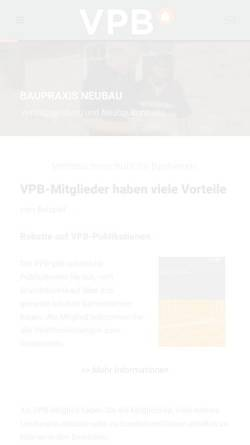 Vorschau der mobilen Webseite www.vpb.de, Verband Privater Bauherren e.V.