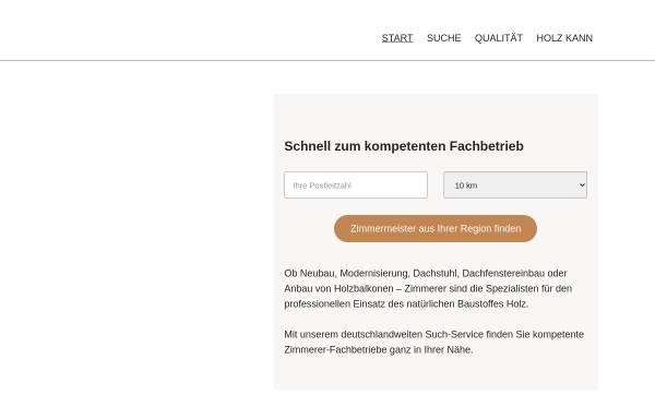 Vorschau von www.zimmermeister-suche.de, Zimmermeister-Suche.de