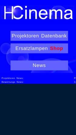 Vorschau der mobilen Webseite www.hcinema.de, HCinema