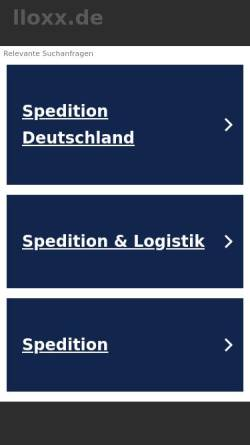 Vorschau der mobilen Webseite www.lloxx.de, lloxx