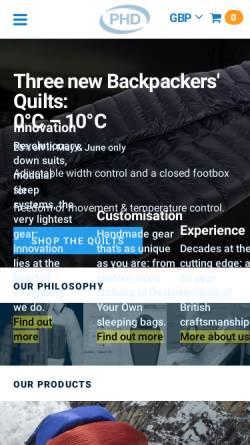 Vorschau der mobilen Webseite www.phdesigns.co.uk, Peter Hutchinson Designs