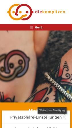 Vorschau der mobilen Webseite www.diekomplizen.org, Thomas Nolte Kreation - diekomplizen