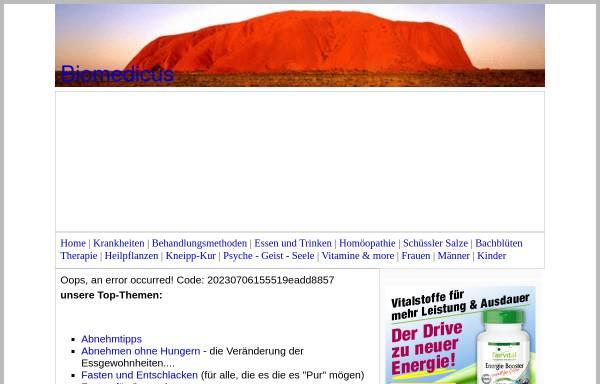 Vorschau von www.biomedicus.de, Biomedicus